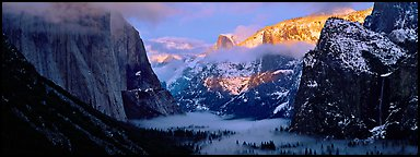 Quang-Tuan Luong winter sunset Yosemite Valley: photo by Quang-Tuan Luong winter sunset Yosemite Valley with some of the peaks in bright light