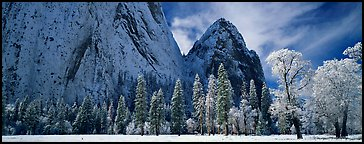 Quang-Tuan Luong cathedral rocks winter: photo by Quang-Tuan Luong Yosemite cathedral rocks in winter
