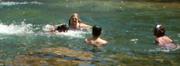 Sheba Najmi swimming at the world's greatest swimming hole: