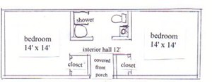 Tetons cabin floorplan 300 pixels: