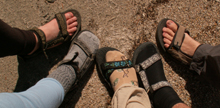 Tetons kayaking footwear: