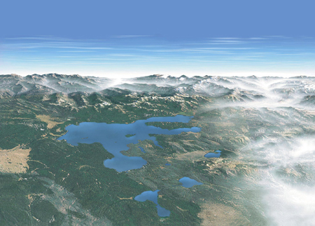 NPS Yellowstone aerial view: