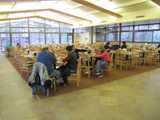 Yosemite Lodge cafeteria: many tables in dining area