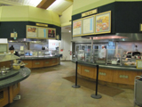 Yosemite lodge food court: Yosemite lodge food court serving counters