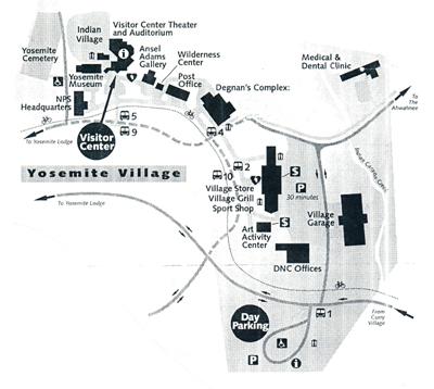 Yosemite village map 400 pxls courtesy of NPS: