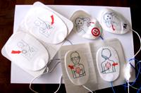 adult pediatric AED pads: three sets of defibrillator pads