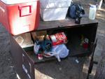 camping food storage box: