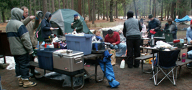 breakfast winter campground Yosemite 2006: