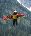 close up NPS photo of short haul rescue:
