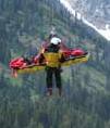close up NPS photo of short haul rescue: