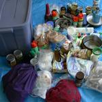 contents of blue bin:
