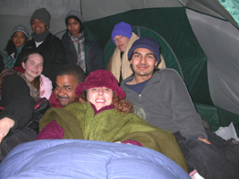 crowded tent snow 2005 three:
