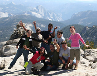 enthusiastic group on Mount Hoffman by William Chan 154 pixels: