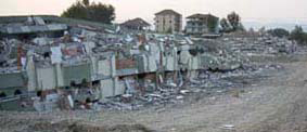 flattened apartments Turkey earthquake: