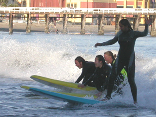 four girls surfing oct 2003: