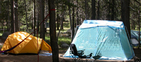 good tent and screen room: