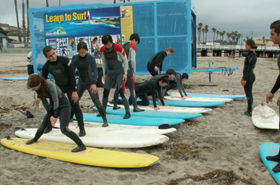 group practice on beach 2006 spr surf: