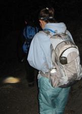 hiking down by flashlight Peter Ye photo: hiking down the Yosemite Falls trail by flashlight Peter Ye photo