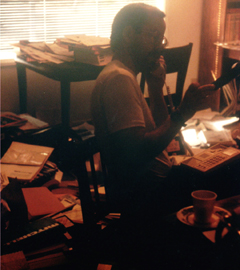 home office right after the 1989 Loma Prieta quake: