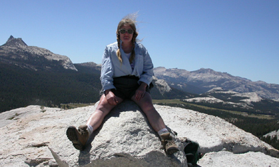 on top of Lembert Dome, Yosemite: