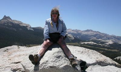 on top of Lembert Dome, Yosemite: