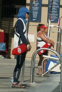 kids tri june 2007 Somayeh and Sylvia guarding: