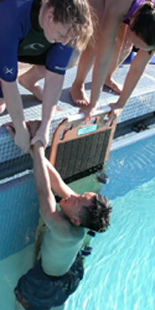 lift board in pool: