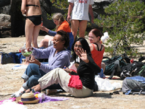 lunch after swimming Tuolumne 2006: