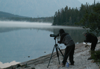 morning photos leigh lake sept 2007 Chris Throm and Alan Ahlstrand: