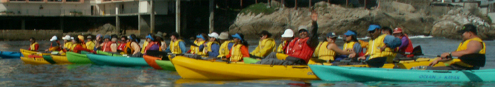 De Anza college ocean kayak 2007 group photo after launch: