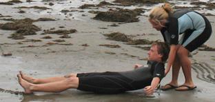 onerescuerbeachdrag2010 148 pixels: lifeguard practices a beach drag