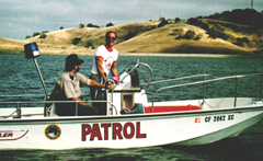 patrol boat Calero reservoir Bud Light Triathlon June 1990: