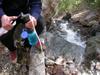 pumping water Yose falls trail: