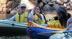 rafting in Yosemite valley 2006 trip: