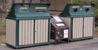 recycling bins Grand teton park: five various recycling bins