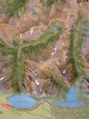 relief map of Jenny and Leigh lakes:
