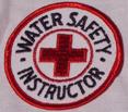 round water safety instructor patch: a round water safety instructor patch.