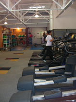 row of machines: