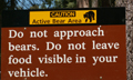 sequoia bear warning sign: