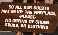 sign do not dry socks: sign do not dry socks