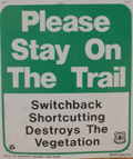 sign please stay on trail: