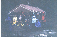 snowcamp group dark morning unknown year:
