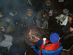 snow camp fire 2005 by Colin Underwood: