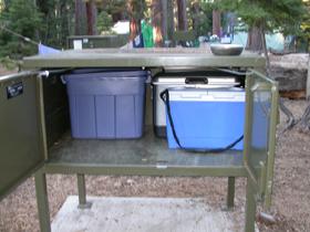 state park bear box interior: