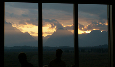 sunset Mural Room Jackson lake Lodge: