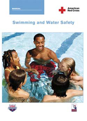 Red Cross swimming and water safety text cover: Red Cross swimming and water safety text cover