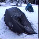tent that collapsed and one that did not: