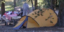 tent with full rainfly breakfast: