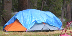 tent with tarp did it need it: