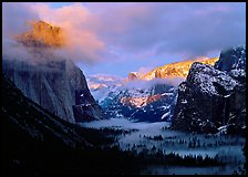 terragalleria Yosemite valley winter glorious pink sunset: terragalleria photo of Yosemite valley winter glorious pink sunset